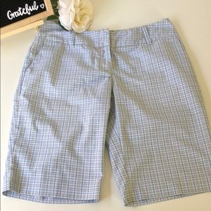 Adidas plaid golf Bermuda shorts